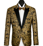 Buy Gold Paisley Lurex Dinner Jacket  Online
